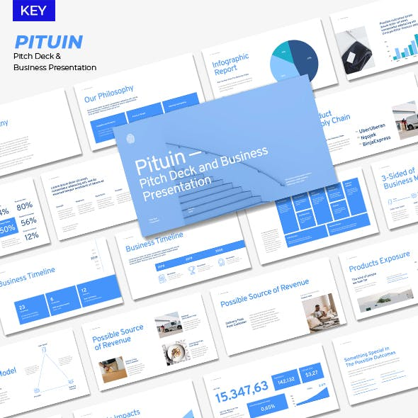 Pituin - Pitch Deck & Business Presentation Keynote Templates