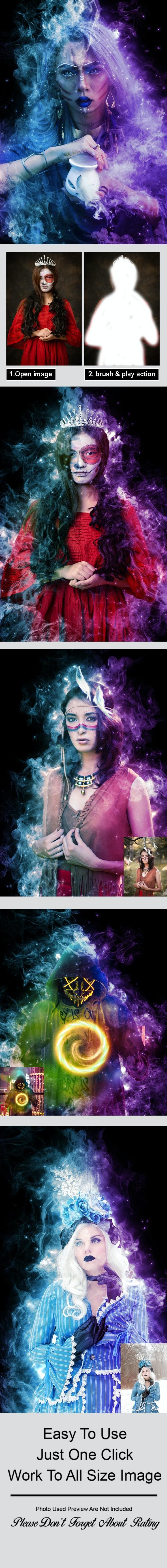 Magic Dust Photoshop Action - Actions Photoshop