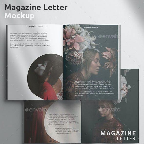 Magazine Mockup - US Letter