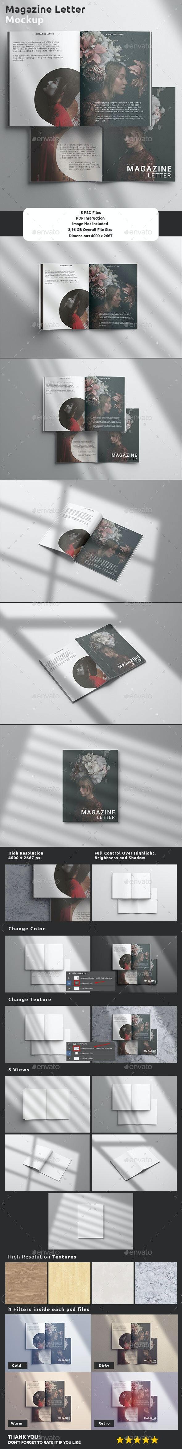 Magazine Mockup - US Letter - Magazines Print