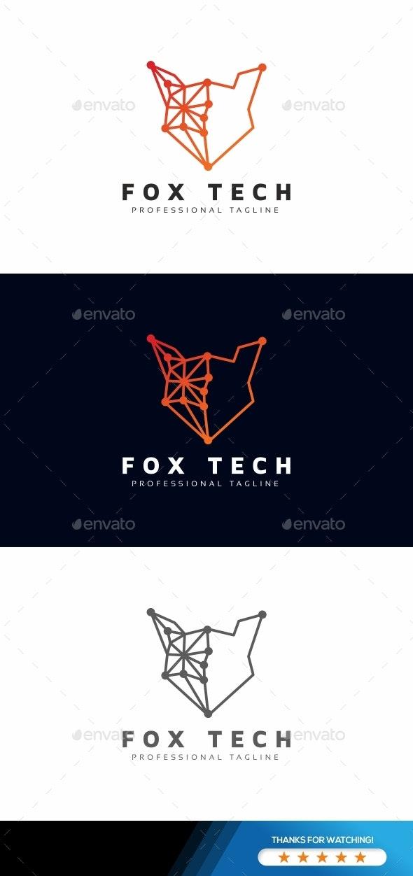 Fox Tech Logo - Animals Logo Templates