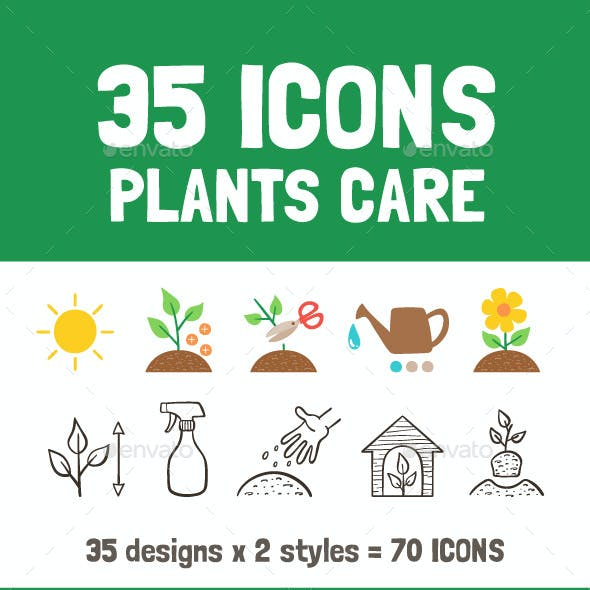 Plants Care Icons