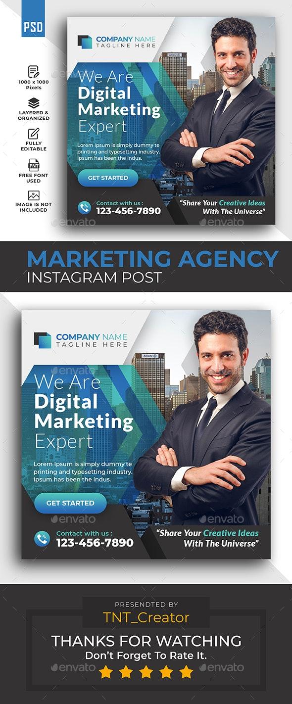 Marketing Social Media Post Banner Template - Social Media Web Elements