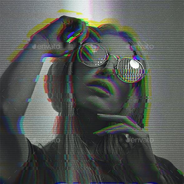 Glith Photo Effect Template