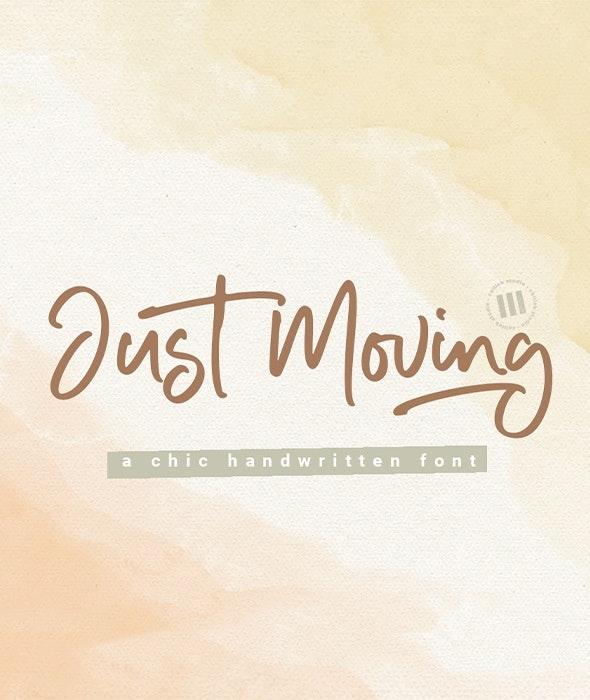 Just Moving - Handwriting Fonts