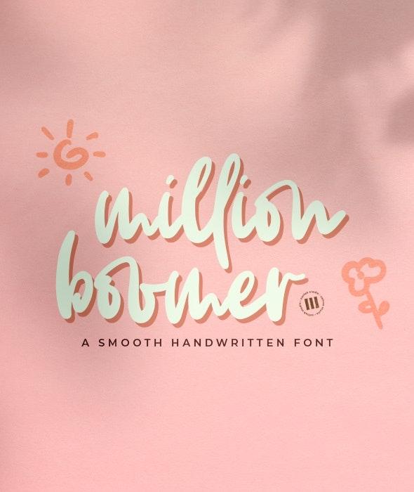 Million Boomer - Handwriting Fonts