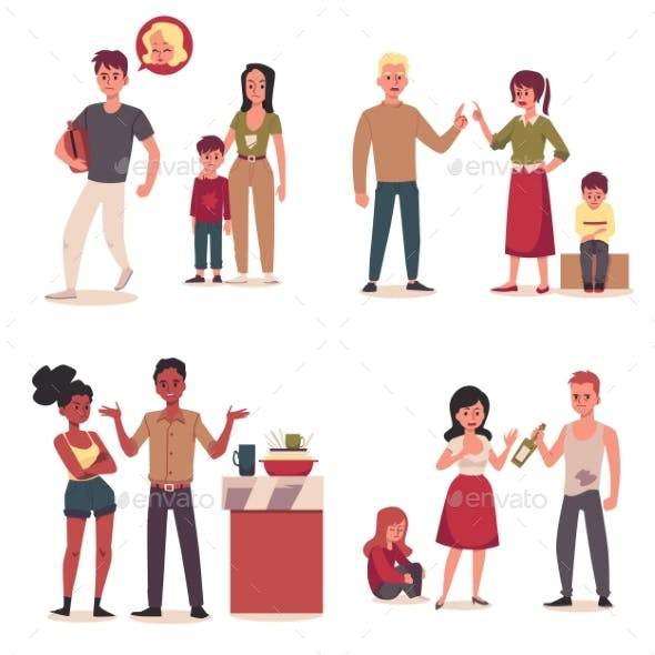 Set Characters of Family Conflict Problem