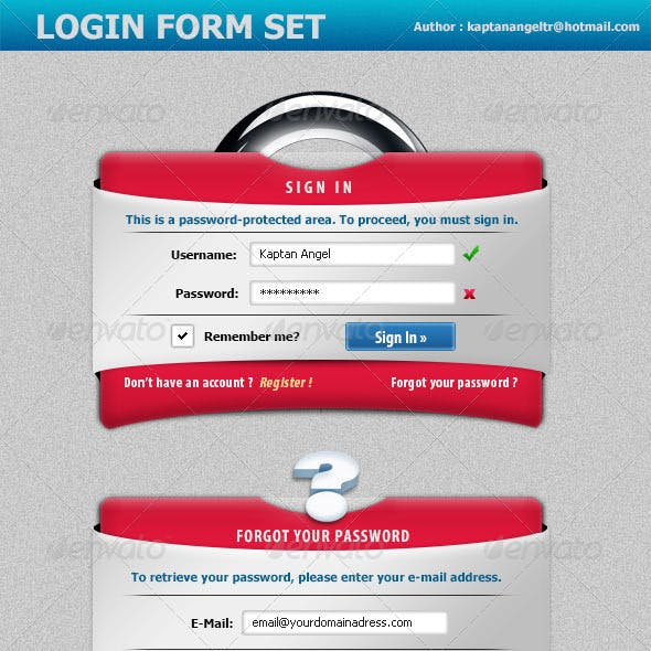 Creative Login Form Set