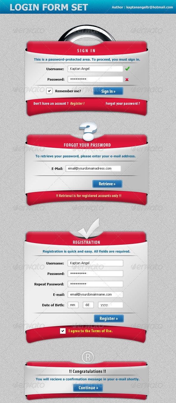 Creative Login Form Set - Forms Web Elements