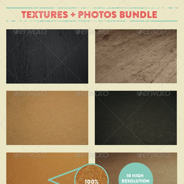 16 Textures and 10 Mock-up Ready Backgrounds