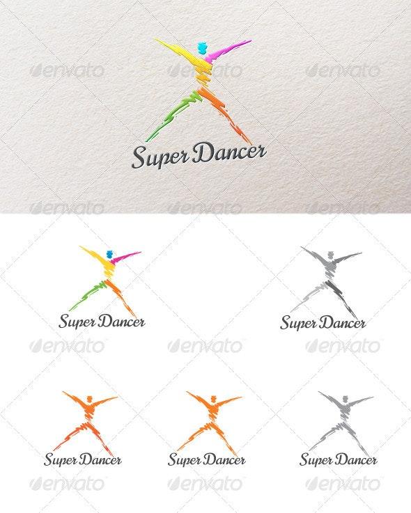Abstract Dancer - Humans Logo Templates