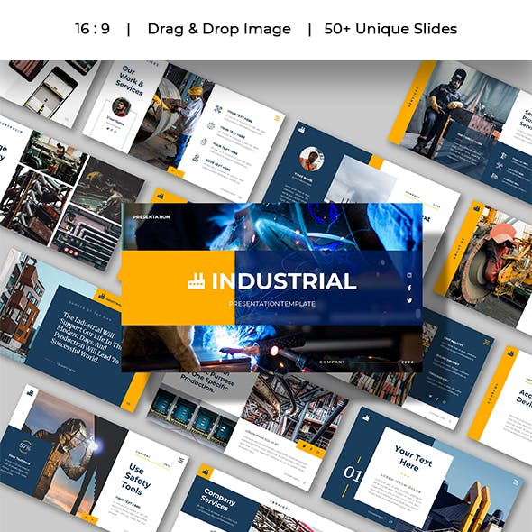 INDUSTRIAL - Factory Business Presentation Powerpoints Template