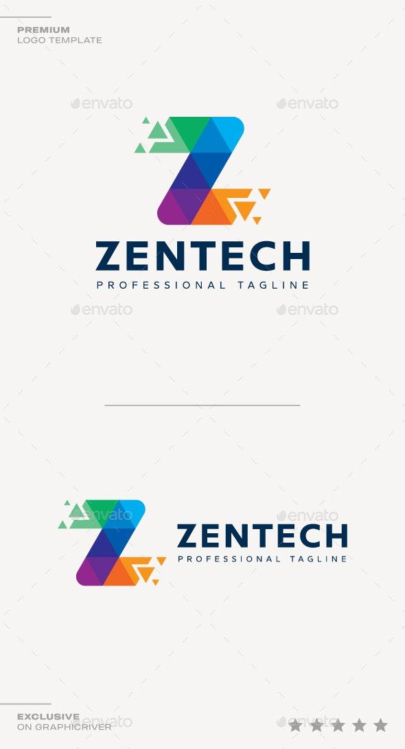 Letter Z - Zen Tech Logo - Letters Logo Templates