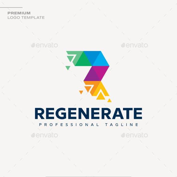Letter R - Regenerate Logo