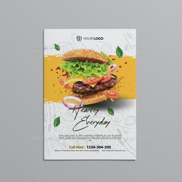 Restaurant Bifold Brochure Template