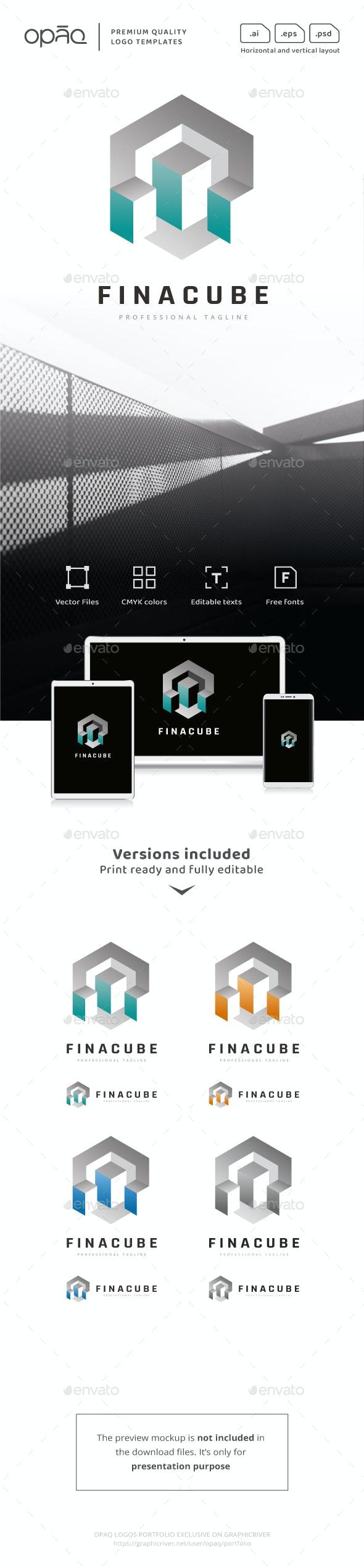 Financial Statistics Cube Logo - Symbols Logo Templates