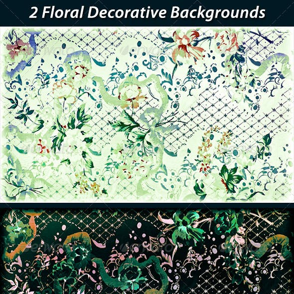 2 Floral Decorative Backgrounds