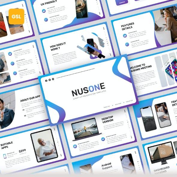 Nusone - Mobile App Google Slides Presentation Templates