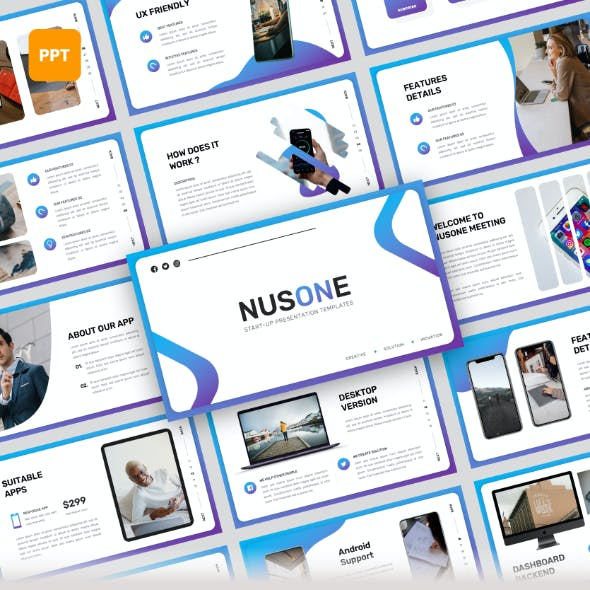 Nusone - Mobile App PowerPoint Presentation Templates