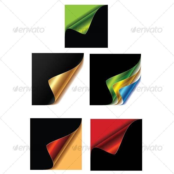 5 Corner Ribbon - Decorative Vectors
