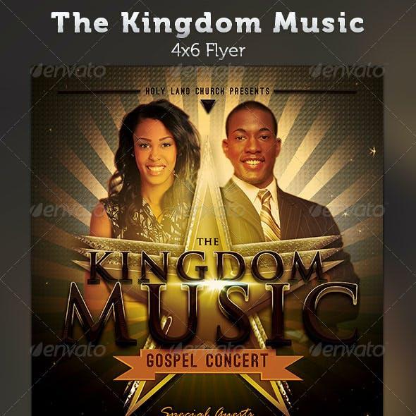 The Kingdom Music: Gospel Concert Flyer Template