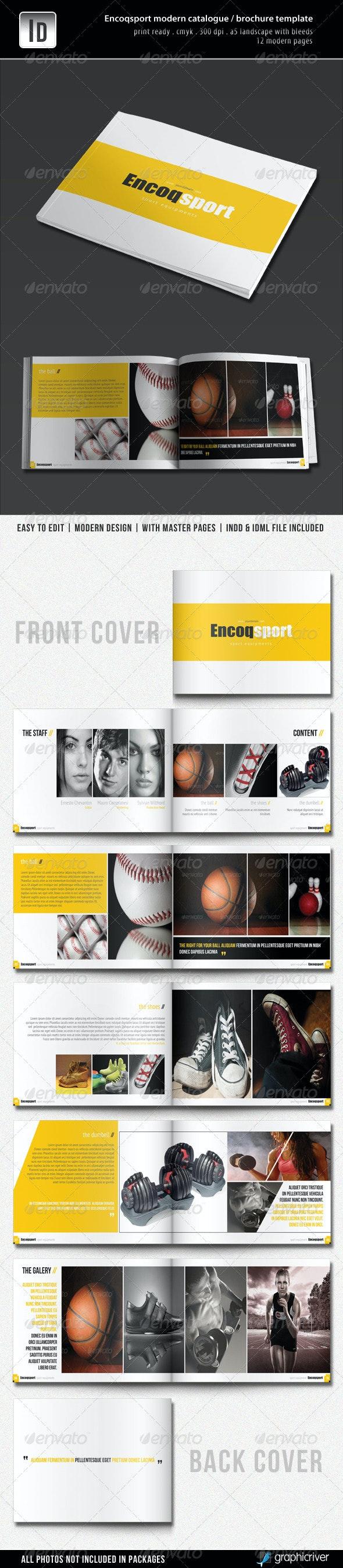 Encoqsport Modern Catalogue / Brochure Template - Catalogs Brochures