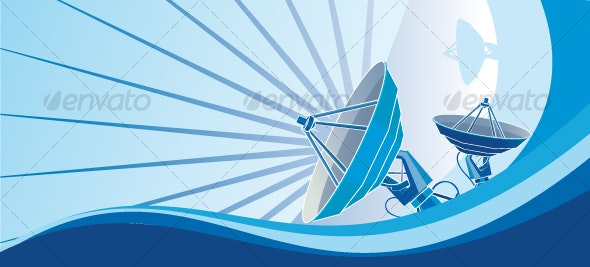 Satellite Dish Blue - Technology Conceptual