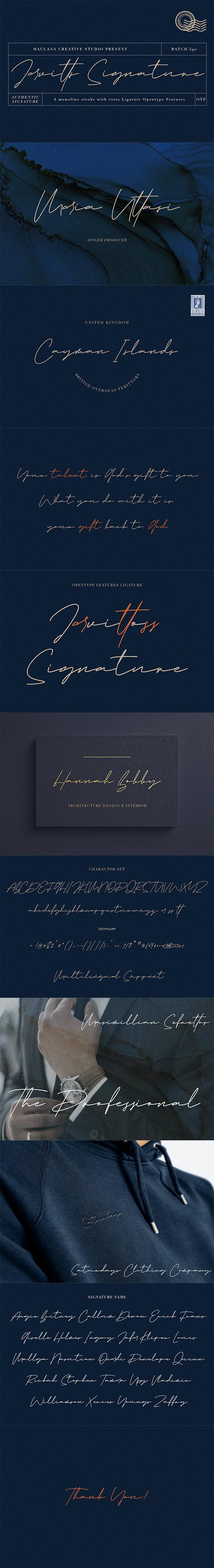 Jarvitts Signature - Script Fonts