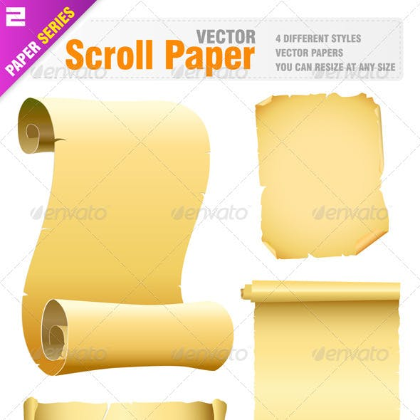 Vector old scroll paper
