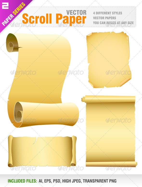 Vector old scroll paper - Backgrounds Decorative