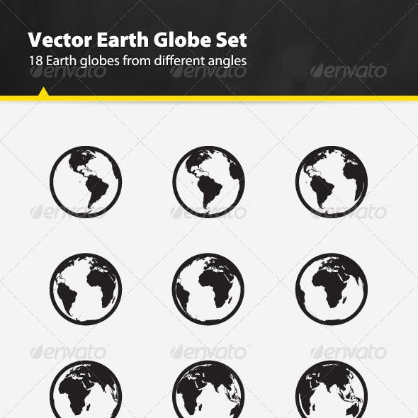 Vector Earth Globe Set