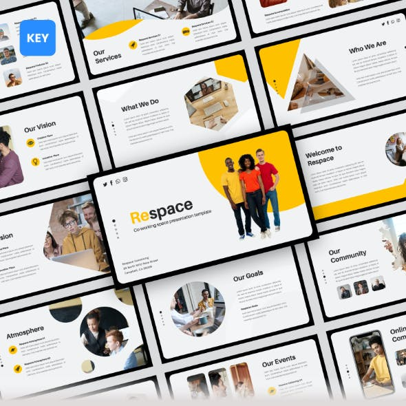 Respace - Coworking Space Keynote Presentation Templates