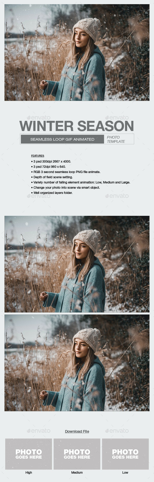 Winter Season - Seasonal Photo Templates