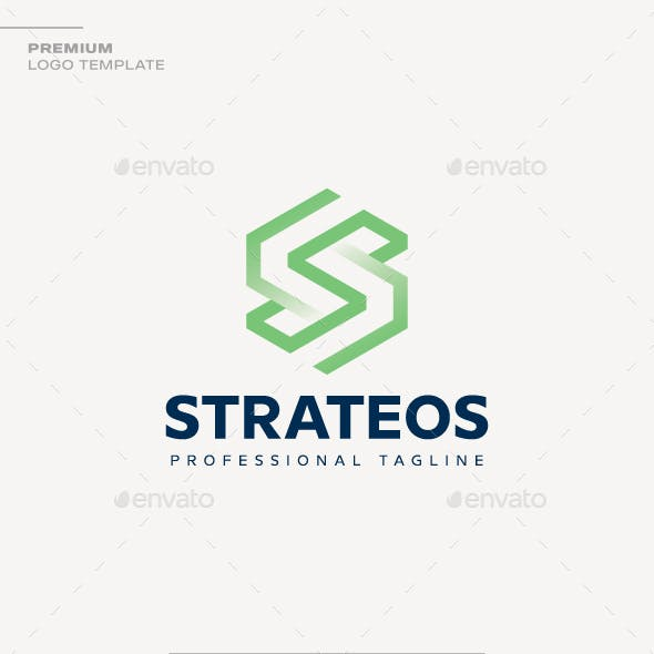 Letter S - Strateos Logo