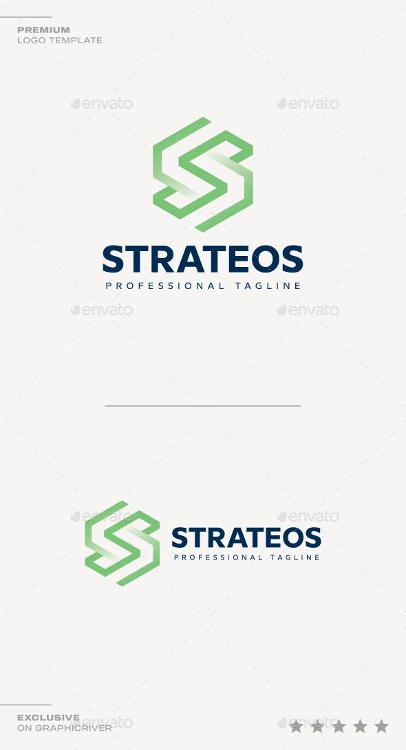 Letter S - Strateos Logo - Abstract Logo Templates