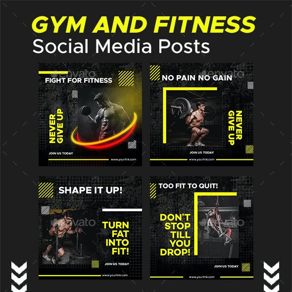 Gym & Fitness Social Media Posts