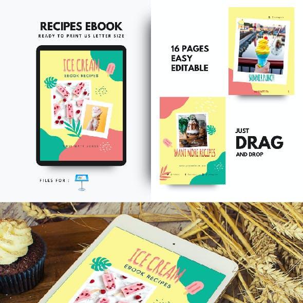 Ice Cream Summer Recipes eBook Keynote Template