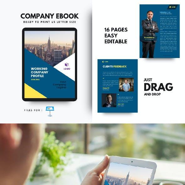 Corporate Company eBook Presentation Keynote Template