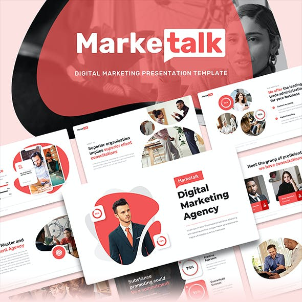 Marketalk - Digital Marketing Keynote Presentation Template