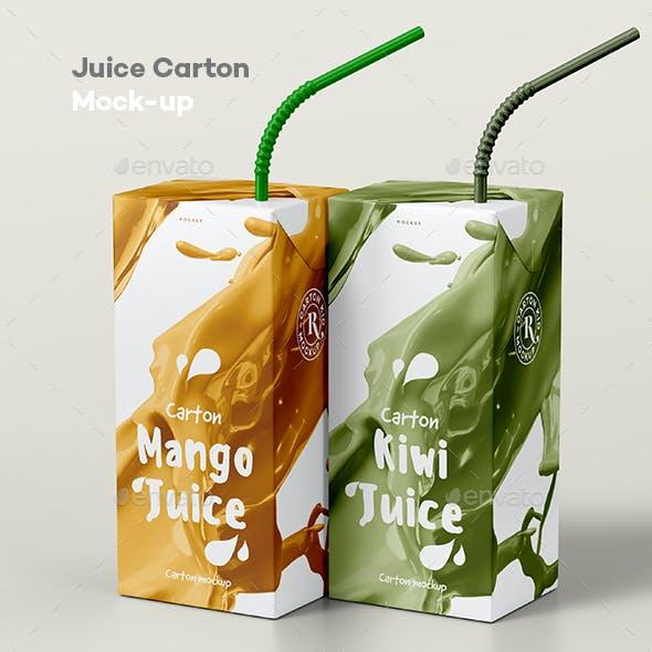 Juice Carton Mock-up