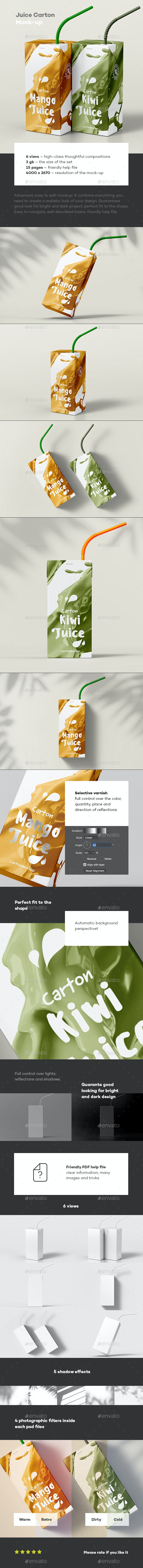 Juice Carton Mock-up - Food and Drink Packaging
