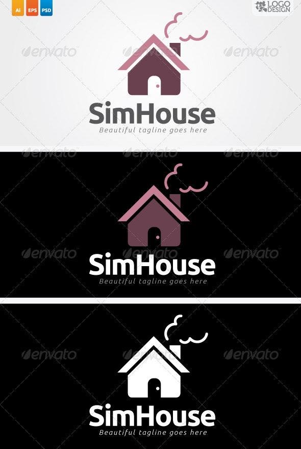 SimHouse - Buildings Logo Templates
