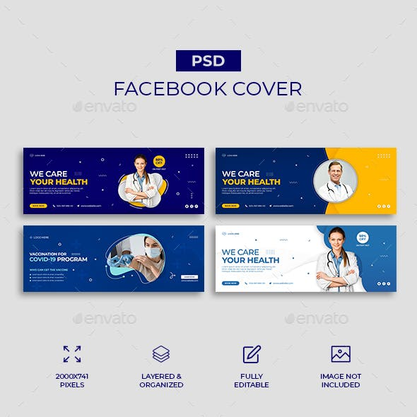 Medical Healthcare Facebook Cover Template