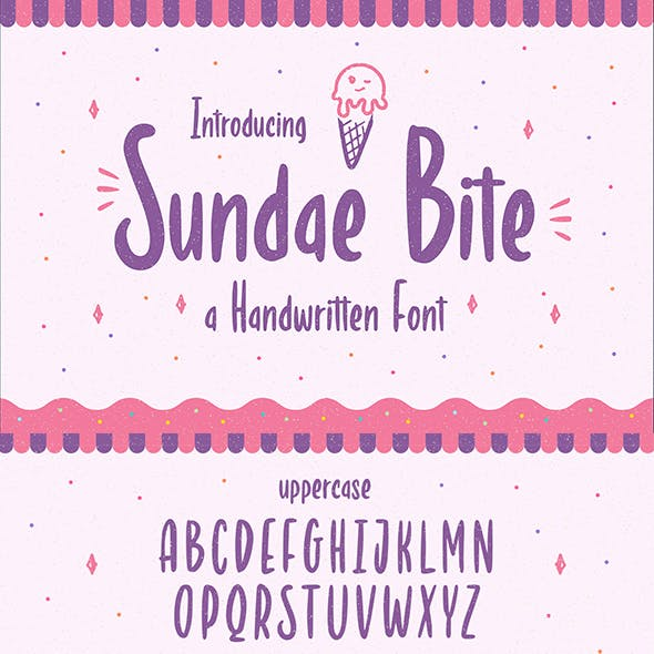 Sundae Bite – Fun Handwritten Font