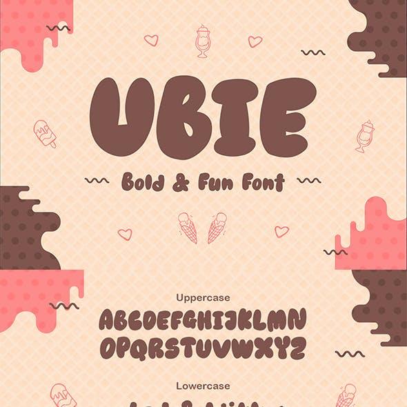 Ubie – Bold and Fun Display
