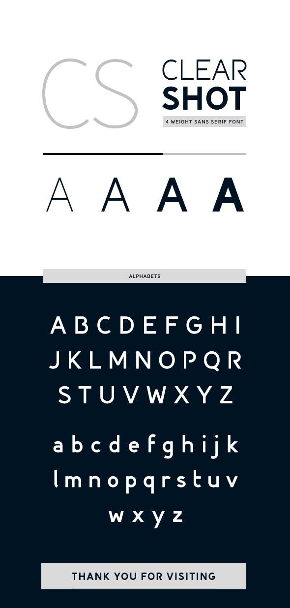 Clear Shot Font - Sans-Serif Fonts