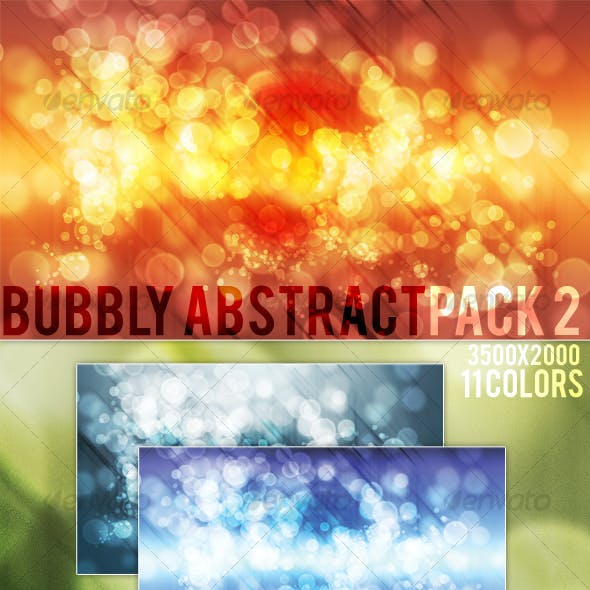Bubbly Abstract Background Pack 2