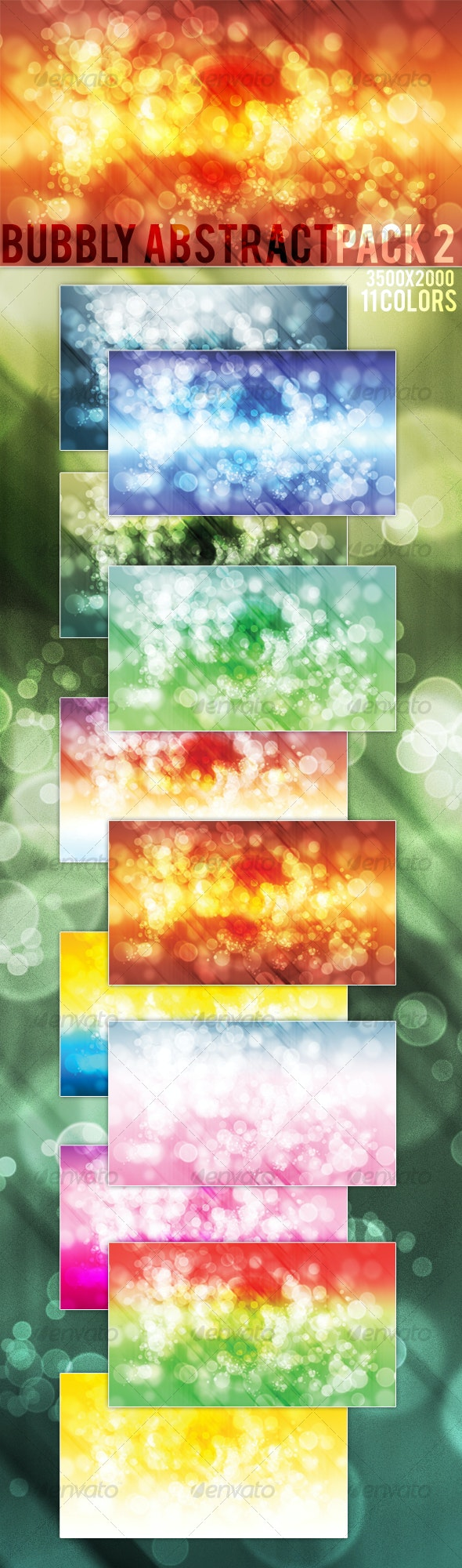 Bubbly Abstract Background Pack 2 - Backgrounds Graphics