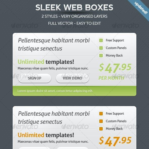 Sleek Web Boxes