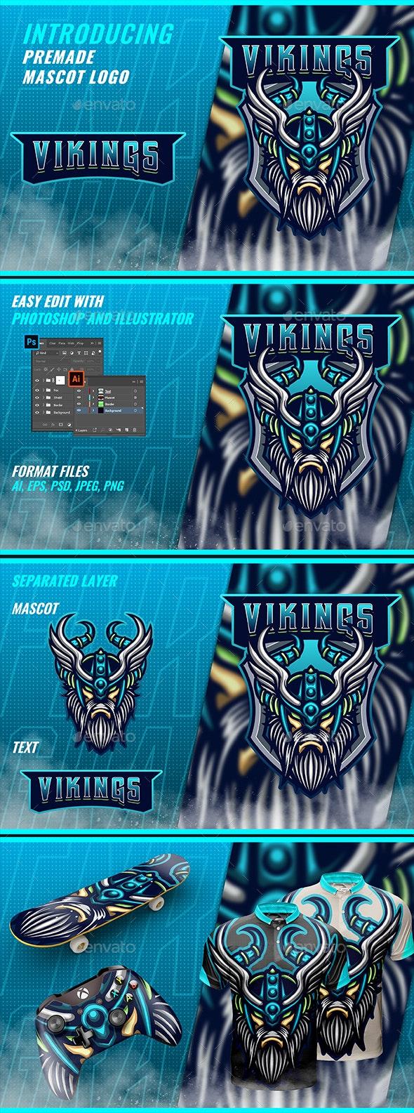 Viking Mascot & Esport Logo - Sports Logo Templates